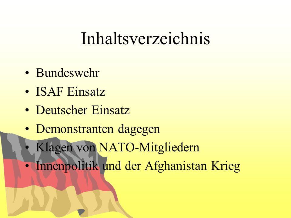 Bundeswehr Streitkräfte Kräftekategorien Oberbefehlshaber NATO-Beitritt
