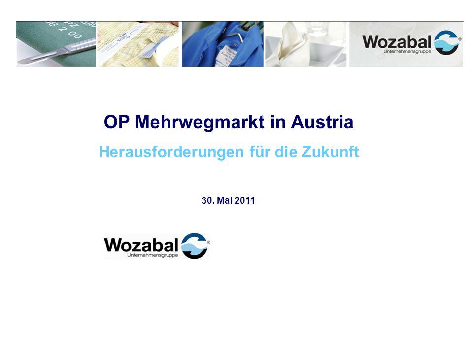 OP Mehrwegmarkt in Austria Herausforderungen für die Zukunft 30. Mai 2011