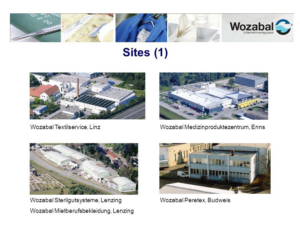 Sites (1) Wozabal Textilservice, LinzWozabal Medizinproduktezentrum, Enns Wozabal Sterilgutsysteme, Lenzing Wozabal Mietberufsbekleidung, Lenzing Woza