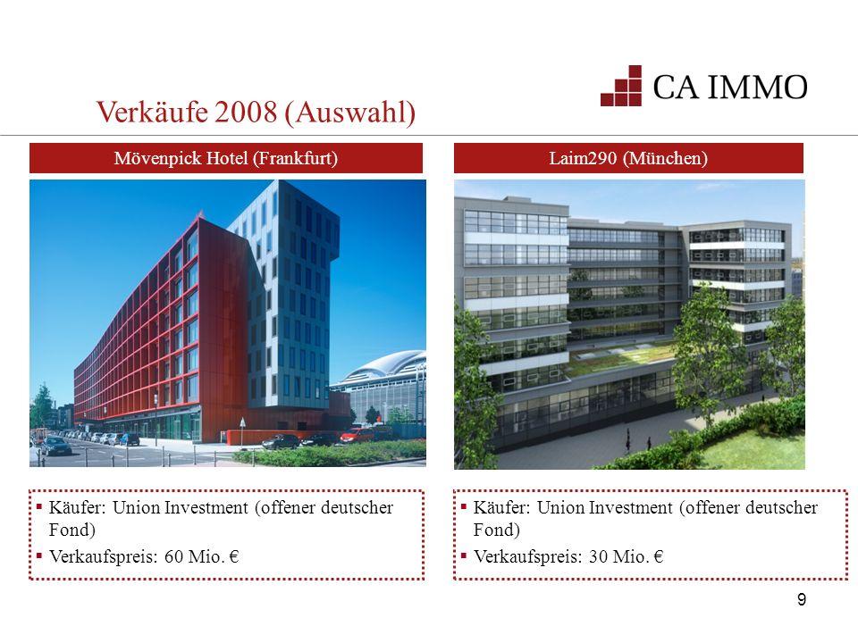 Käufer: Union Investment (offener deutscher Fond) Verkaufspreis: 60 Mio. Käufer: Union Investment (offener deutscher Fond) Verkaufspreis: 30 Mio. Laim