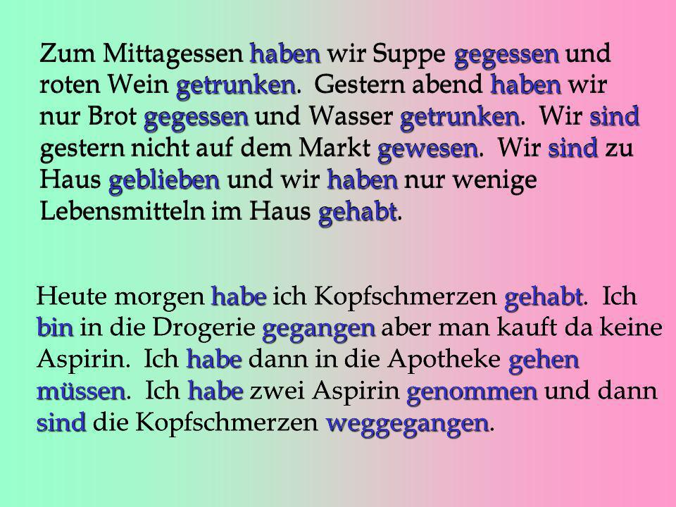 - ieren When a verb infinitive ends in -ieren, it does not use the usual prefix ge- studierenIch habe Deutsch studiert. reparierenVater hat unser Auto