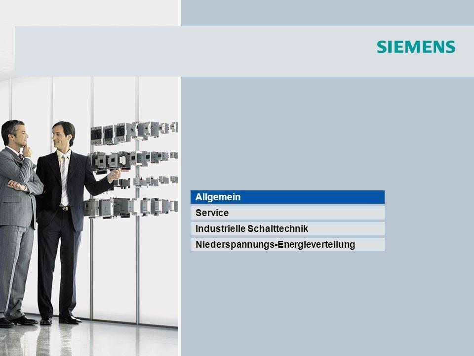 © Siemens AG 2008 - Änderungen vorbehalten Industry Sector Seite 33/55 Schalt- und Schutzgeräte SENTRON für die Energieverteilung Sentron Switching and Protecting for Low Voltage Power Distribution NEW.