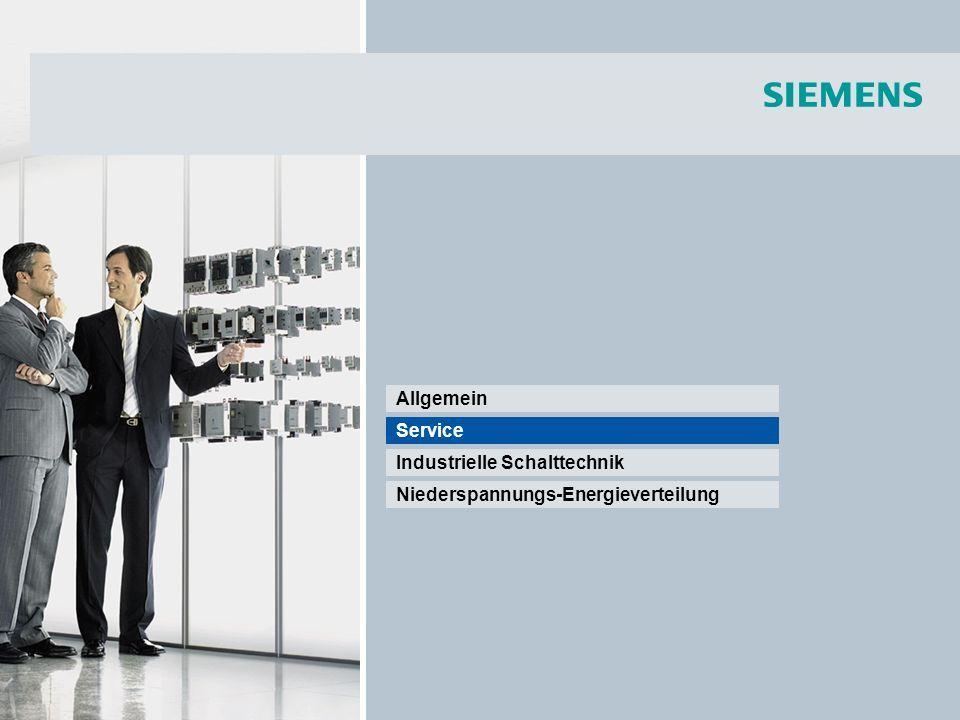 © Siemens AG 2008 - Änderungen vorbehalten Industry Sector Seite 16/55 Service NEU.