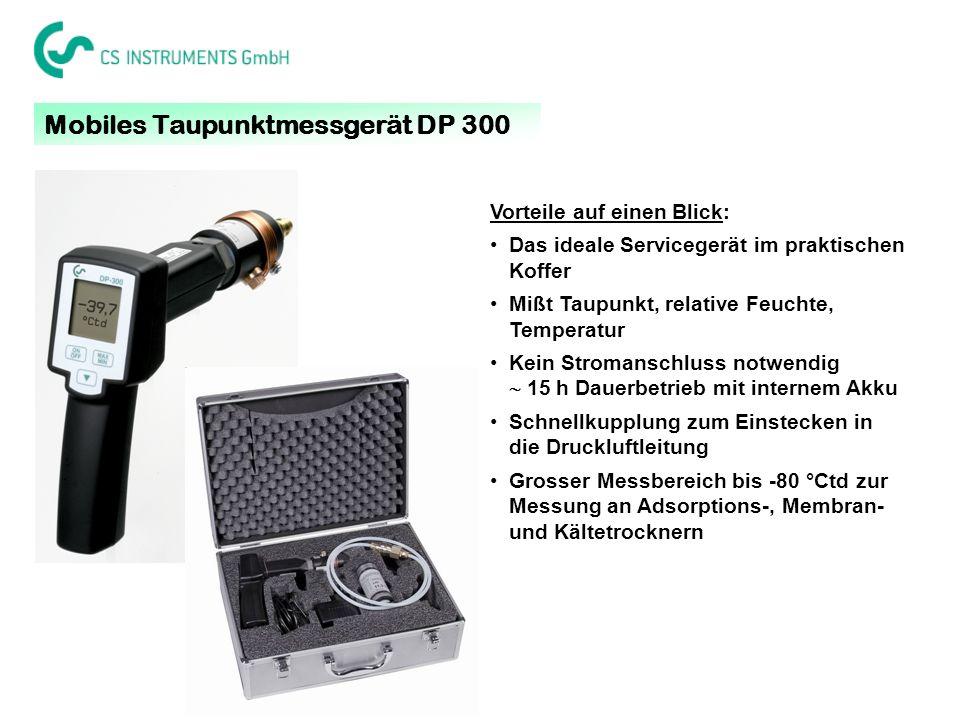 Mobiles Taupunktmessgerät DP 300 Vorteile auf einen Blick: Das ideale Servicegerät im praktischen Koffer Mißt Taupunkt, relative Feuchte, Temperatur K