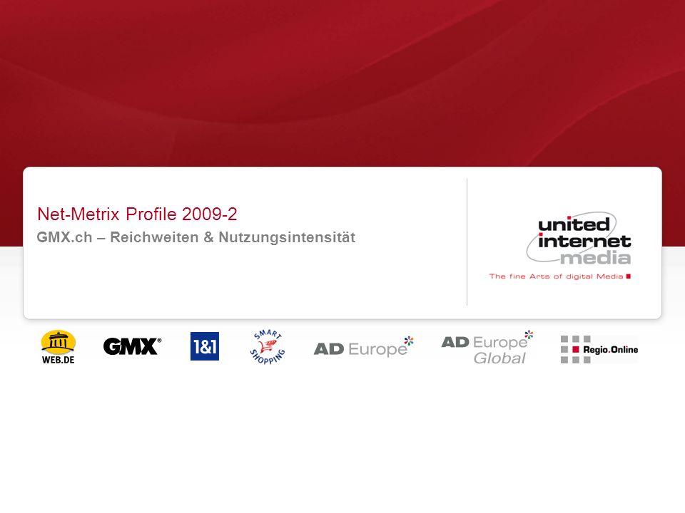 Net-Metrix Profile 2009-2 GMX.ch – Reichweiten & Nutzungsintensität