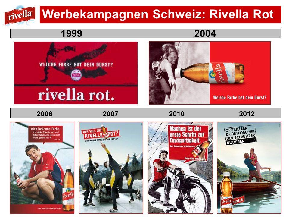 Werbekampagnen Schweiz: Rivella Rot 1999 2004 2006 2007 2010 2012