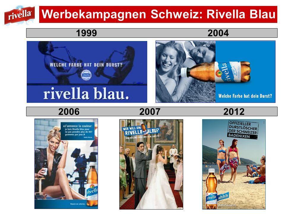 Werbekampagnen Schweiz: Rivella Blau 1999 2004 2006 2007 2012