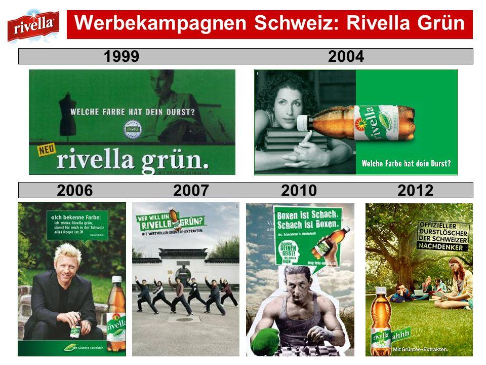 Werbekampagnen Schweiz: Rivella Grün 1999 2004 2006 2007 2010 2012