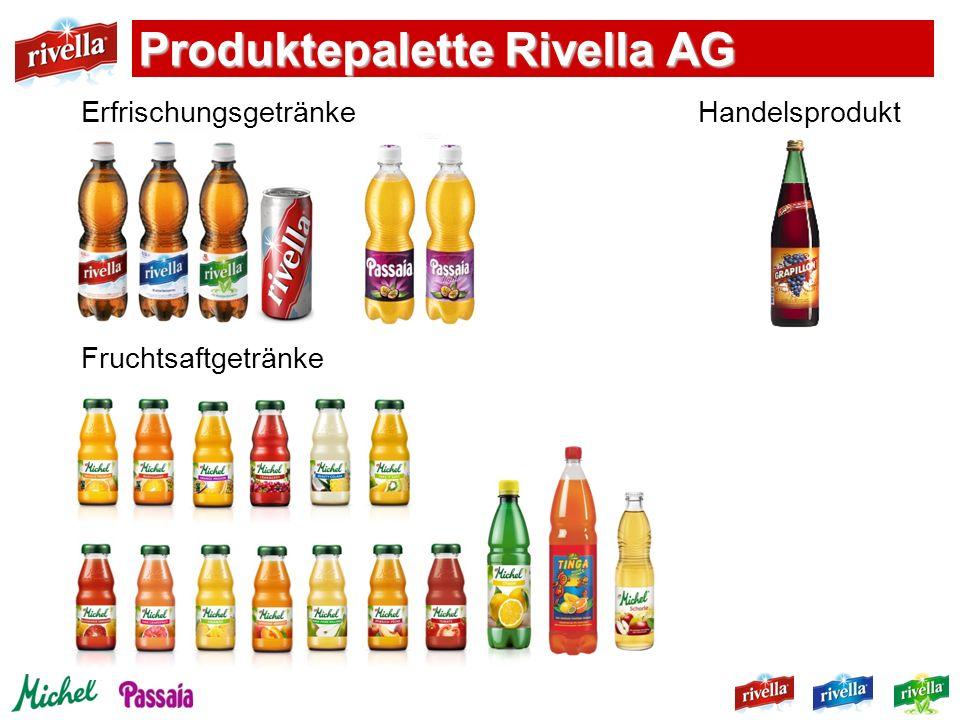 Erfrischungsgetränke Handelsprodukt Fruchtsaftgetränke Produktepalette Rivella AG