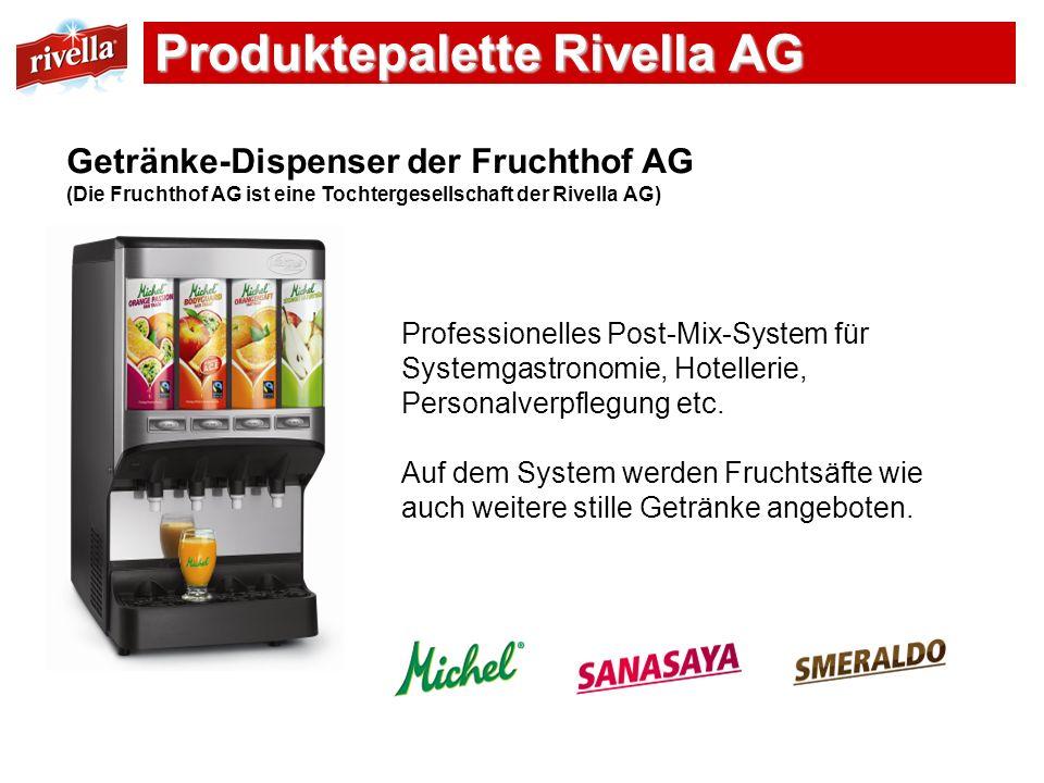 Getränke-Dispenser der Fruchthof AG (Die Fruchthof AG ist eine Tochtergesellschaft der Rivella AG) Professionelles Post-Mix-System für Systemgastronom
