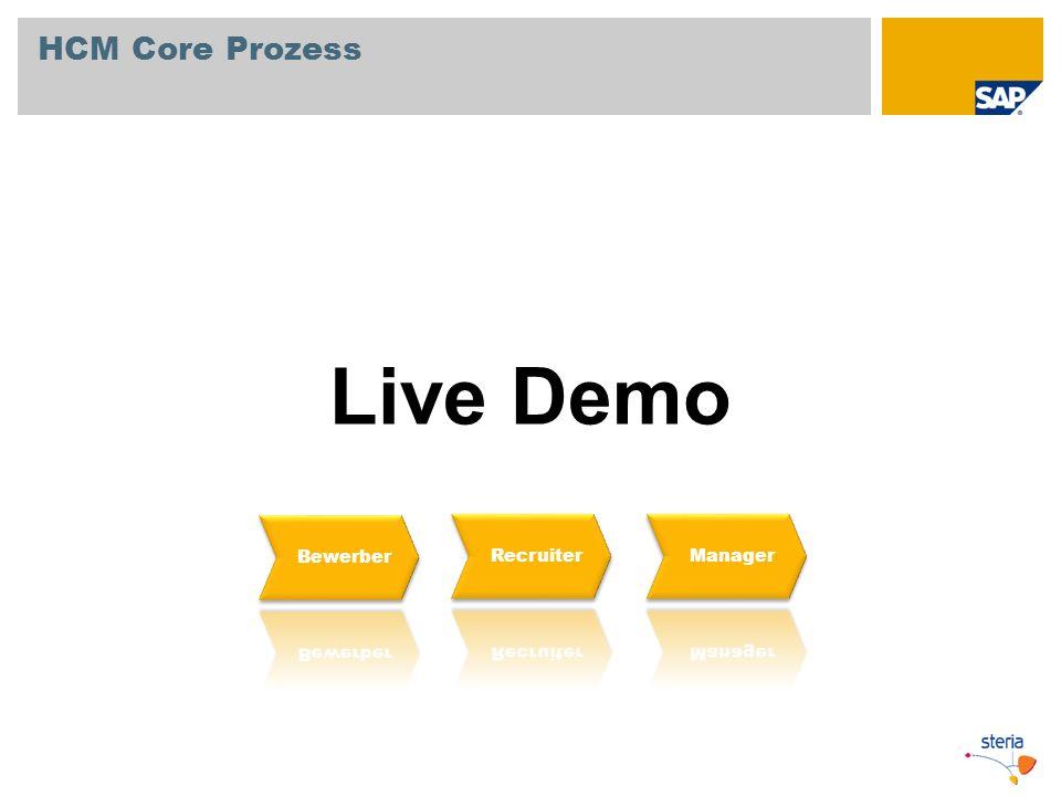 HCM Core Prozess Live Demo