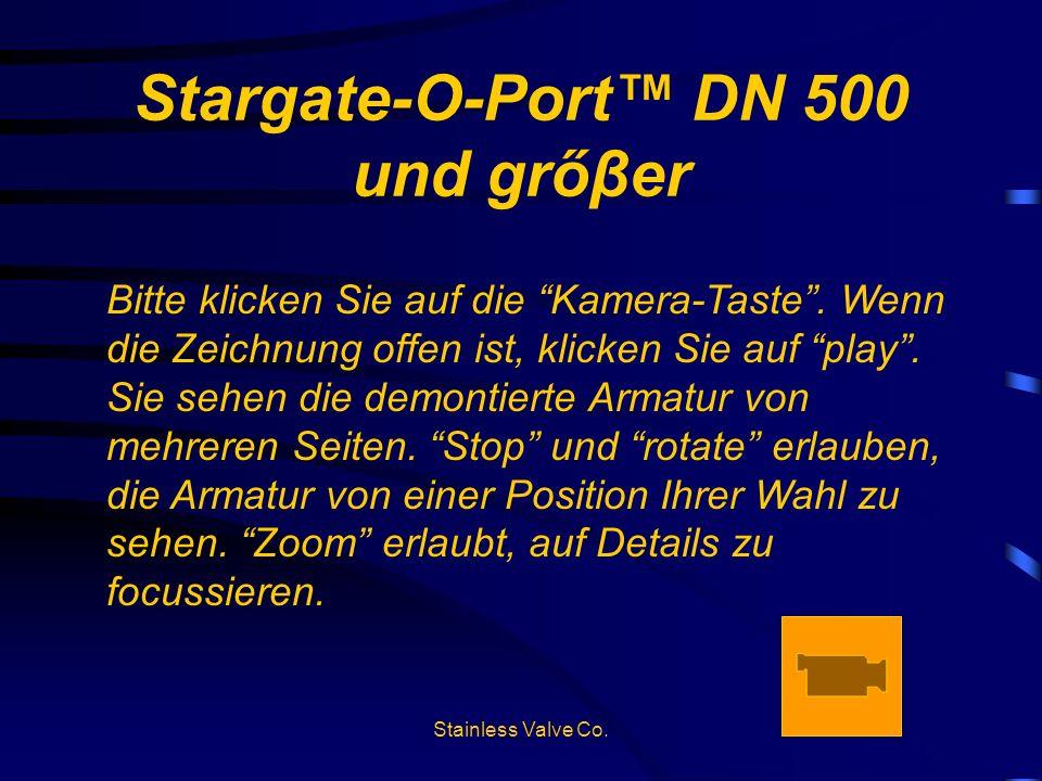 Stargate-O-Port DN 500 und grőβer Bitte klicken Sie auf die Kamera-Taste. Wenn die Zeichnung offen ist, klicken Sie auf play. Sie sehen die demontiert