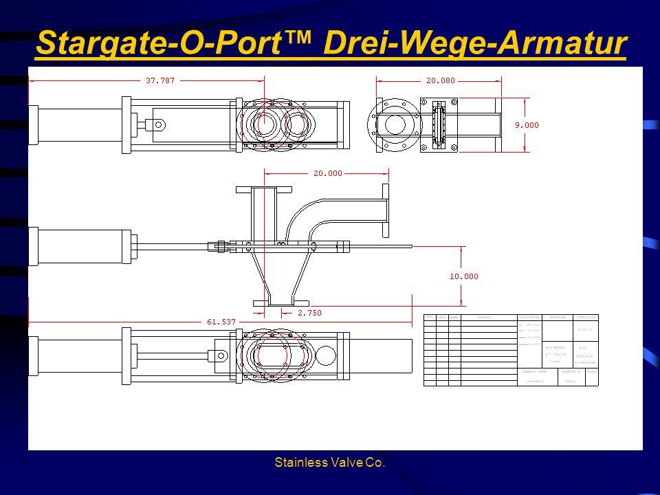 Stainless Valve Co. Stargate-O-Port Drei-Wege-Armatur