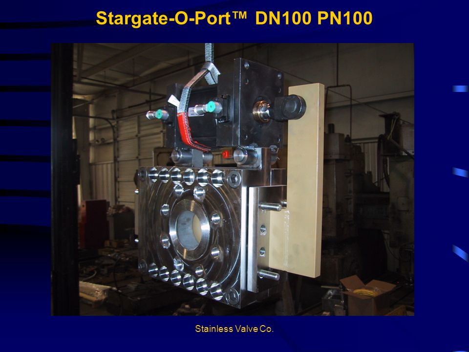 Stainless Valve Co. Stargate-O-Port DN100 PN100