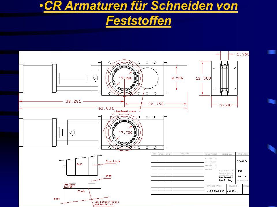 Stainless Valve Co. CR Armaturen für Schneiden von Feststoffen