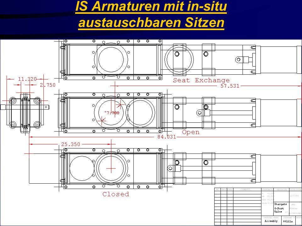 Stainless Valve Co. IS Armaturen mit in-situ austauschbaren Sitzen