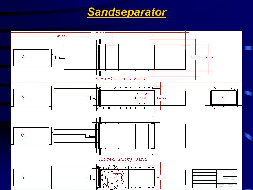 Stainless Valve Co. Sandseparator