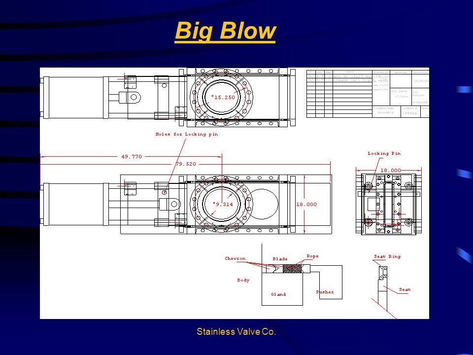 Stainless Valve Co. Big Blow Blatt & Seitenführungen