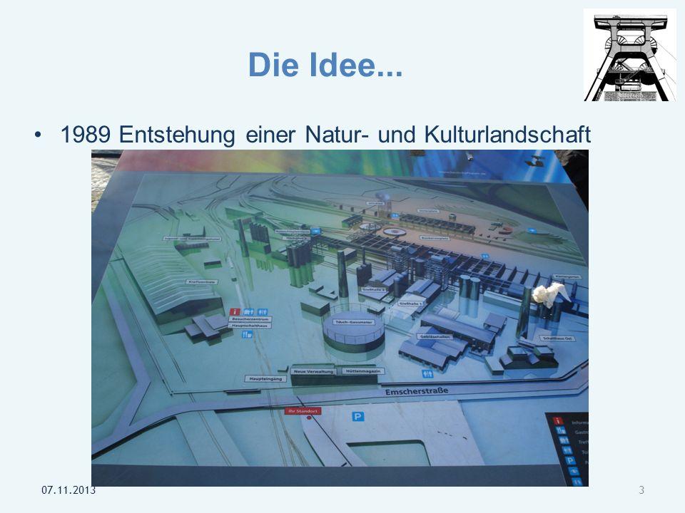 Die Idee... 1989 Entstehung einer Natur- und Kulturlandschaft 07.11.20133