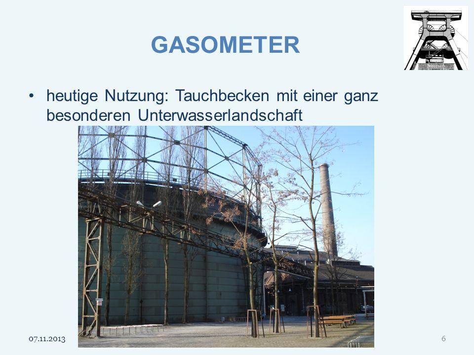 GASOMETER heutige Nutzung: Tauchbecken mit einer ganz besonderen Unterwasserlandschaft 07.11.20136
