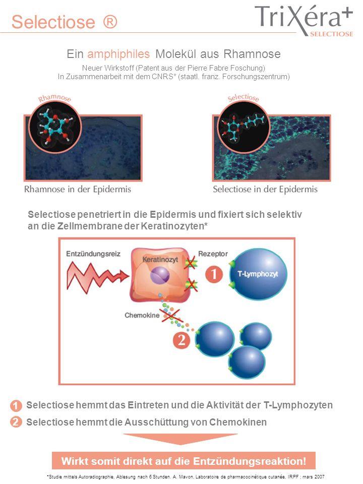 Selectiose ® Ein amphiphiles Molekül aus Rhamnose *Studie mittels Autoradiographie, Ablesung nach 6 Stunden. A. Mavon, Laboratoire de pharmacocinétiqu