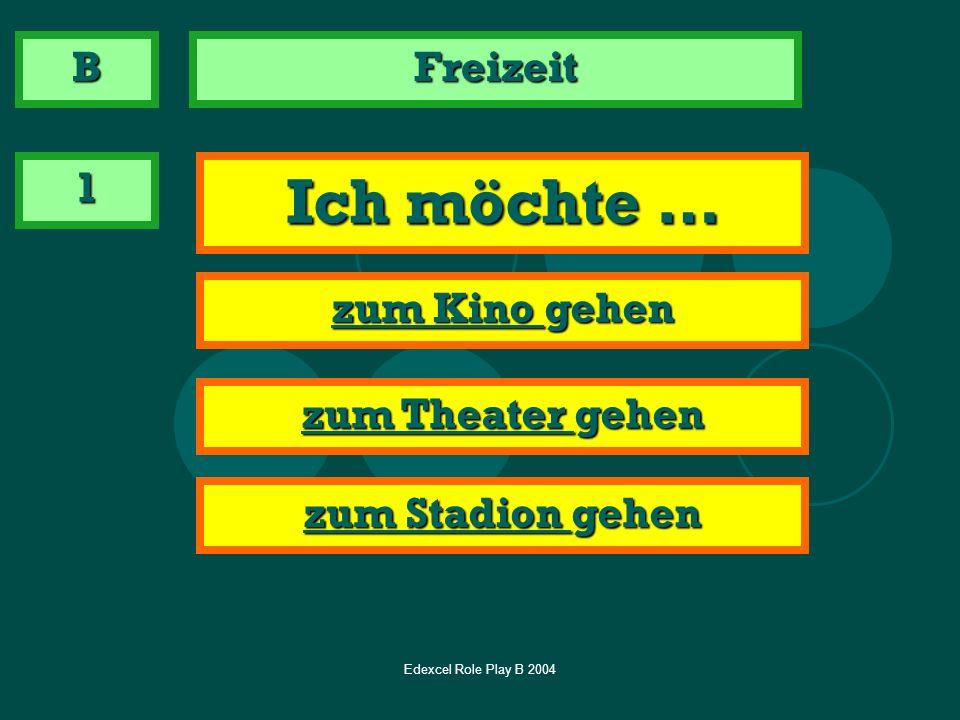 Edexcel Role Play B 2004 Freizeit 2 Ask how far it is km km B