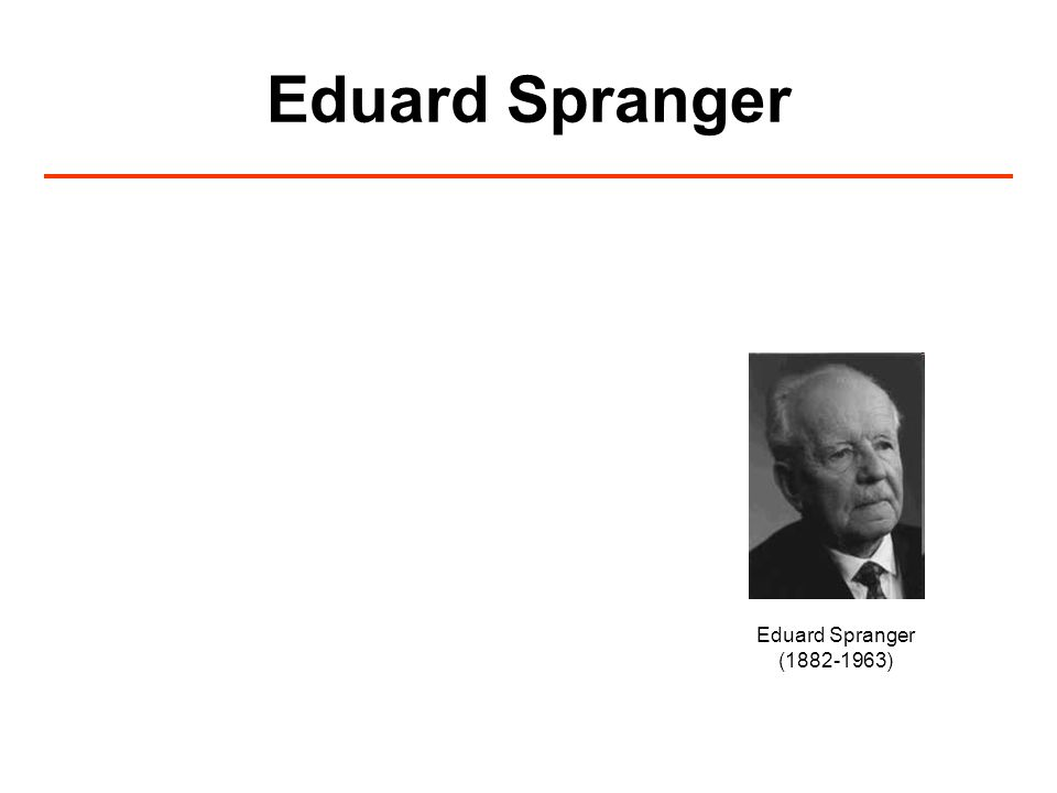 Eduard Spranger (1882-1963)