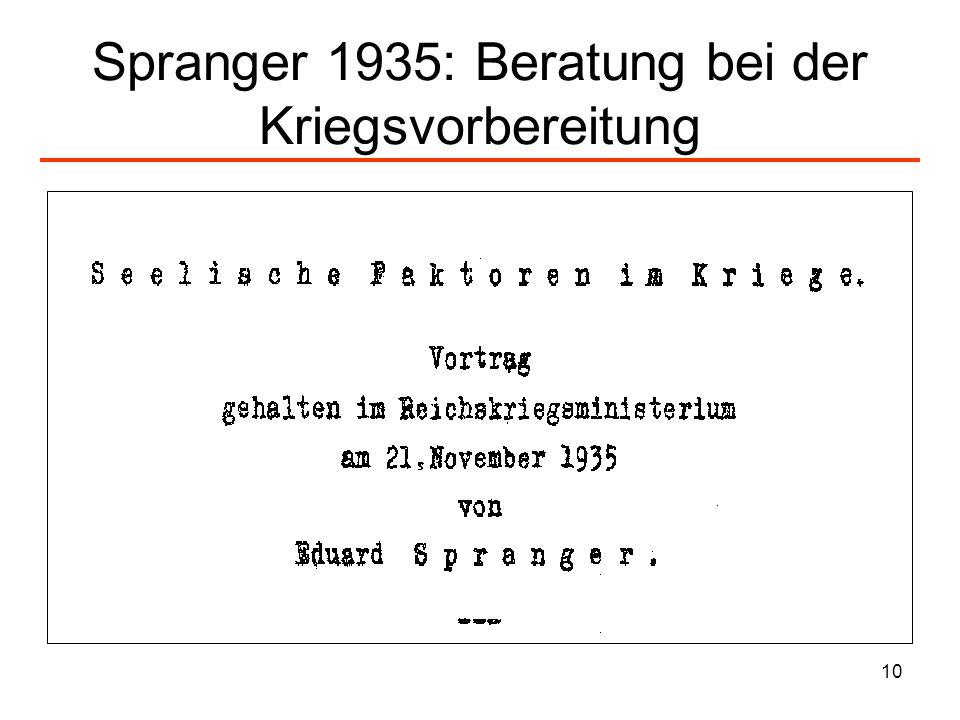 10 Spranger 1935: Beratung bei der Kriegsvorbereitung
