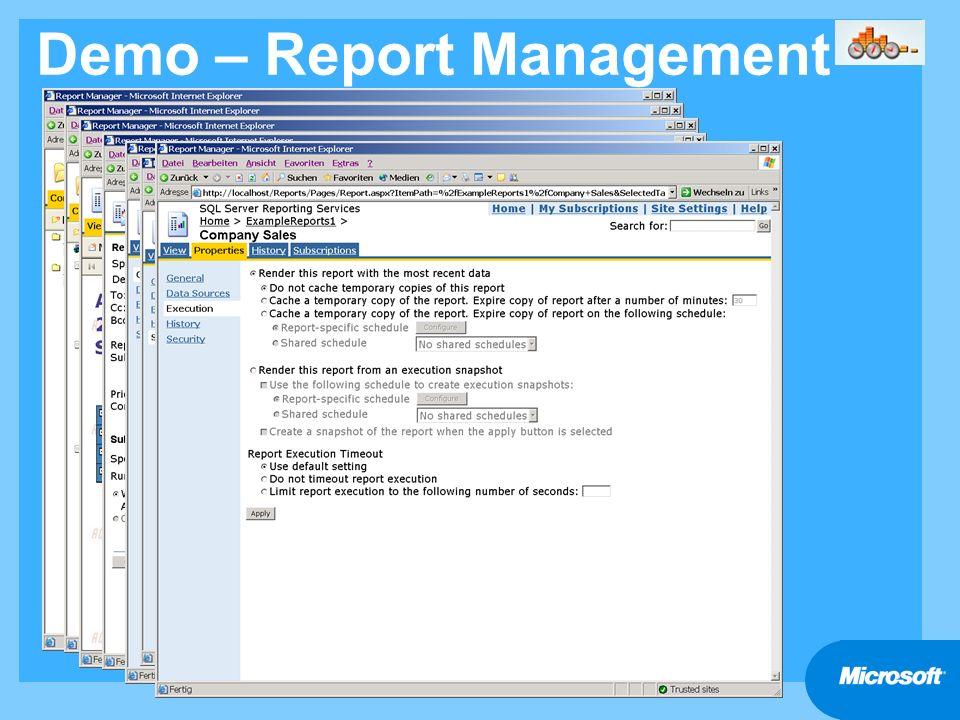 Demo – Report Management