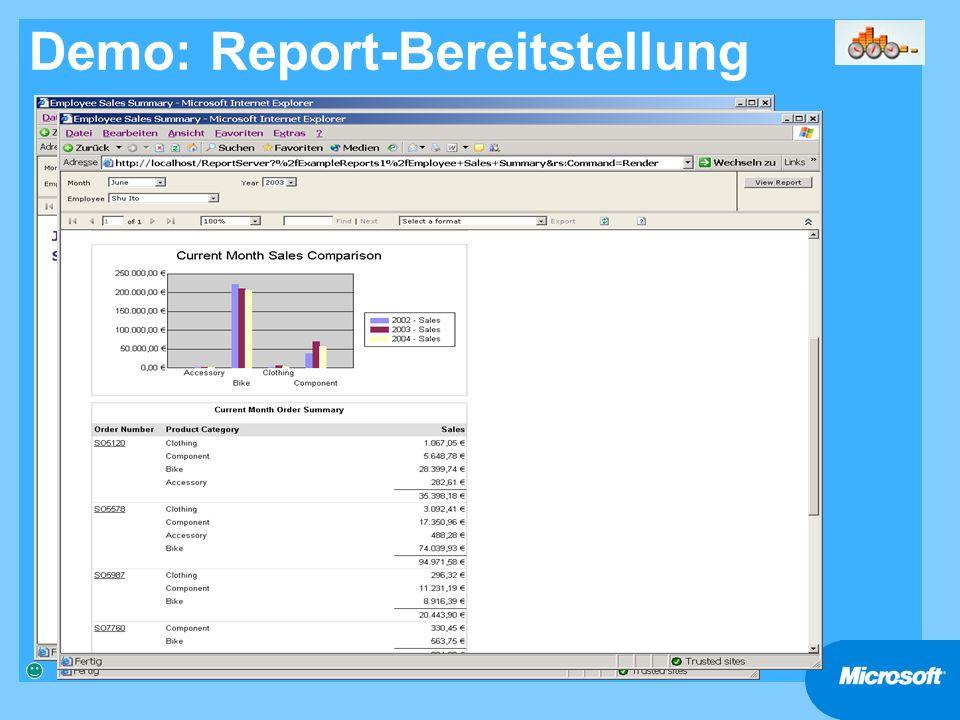 Demo: Report-Bereitstellung