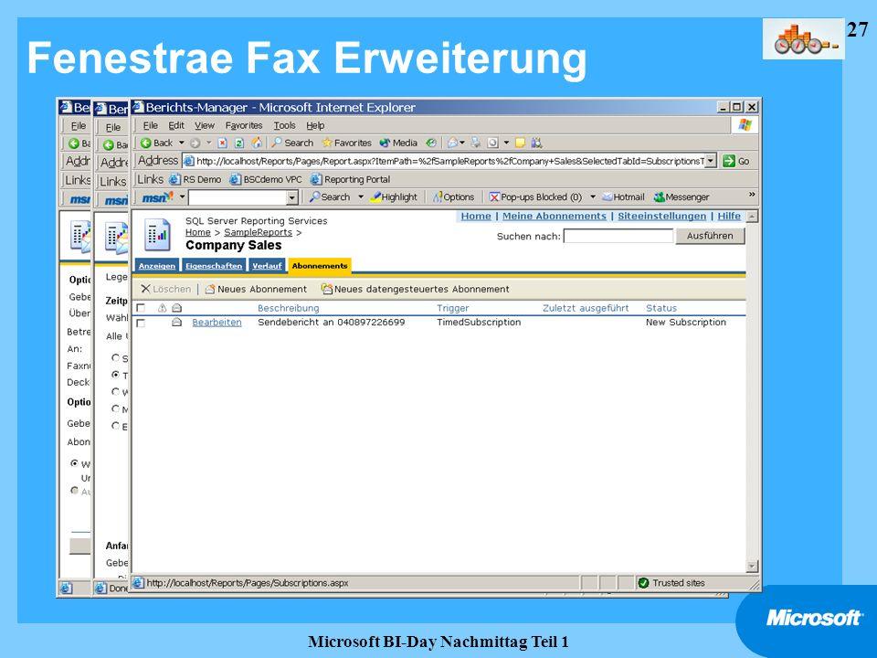 27 Microsoft BI-Day Nachmittag Teil 1 Fenestrae Fax Erweiterung