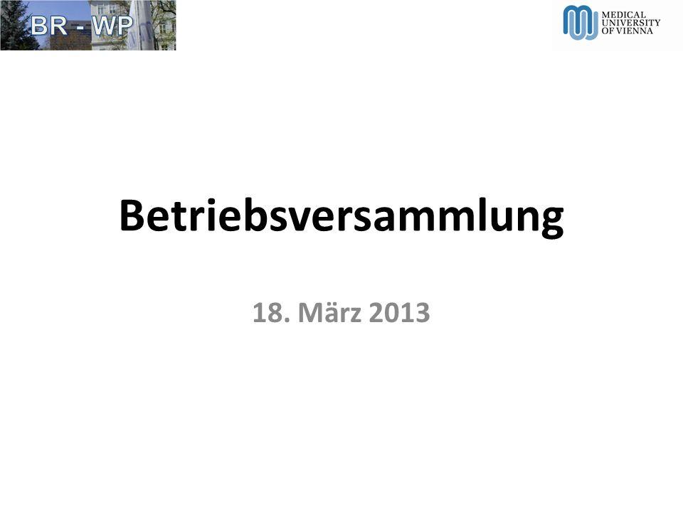 Betriebsversammlung 18. März 2013