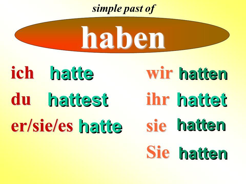 können Modal verbs: no umlaut in the simple past tense te simple past tense marker ich er dust ihrt nwirSiesie