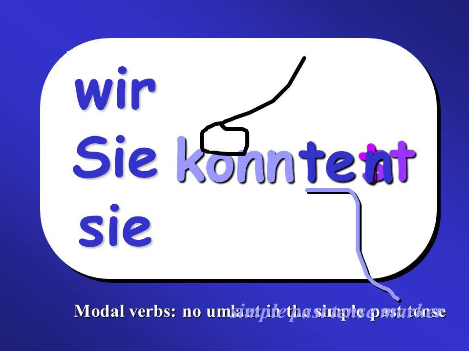 Fill in the missing verbs (imperfect & perfect tense): Schwache (weak) Verben imperfectperfect (past participle) spielen ich___________ gespielt machen ich machte __________________ lernen wir___________ __________________ arbeiten er____________ gearbeitet fragen ihr fragtet __________________ aufräumenSie______________________________