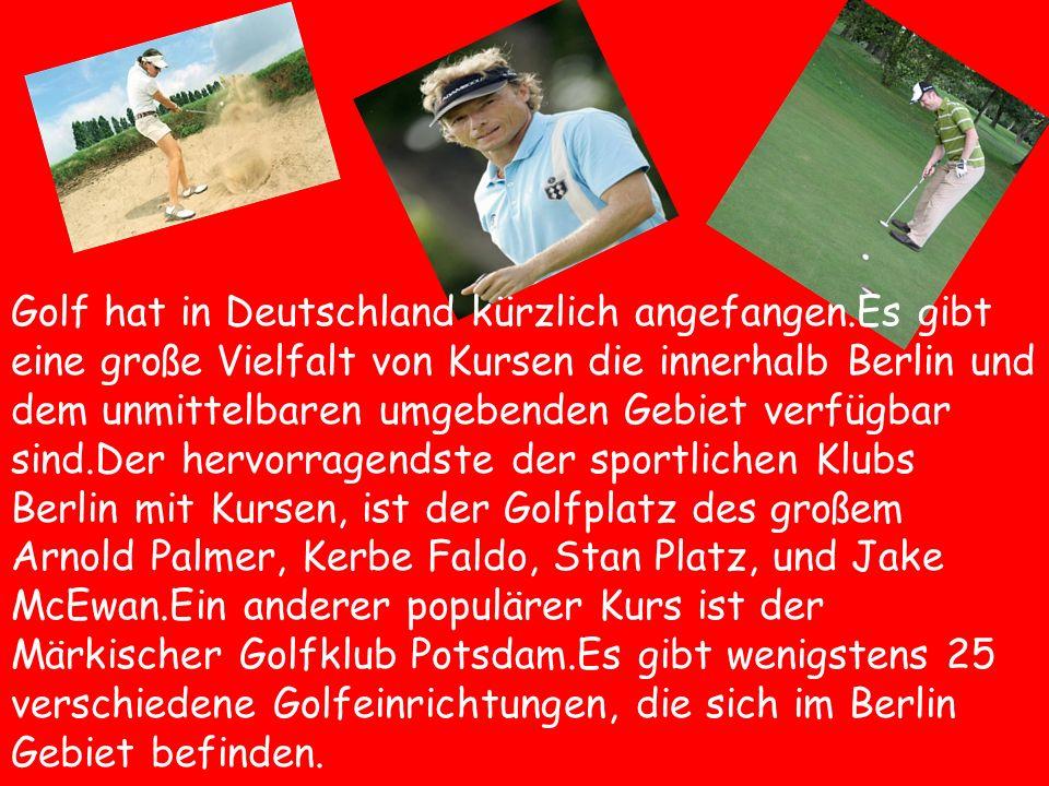Golf hat in Deutschland kürzlich angefangen.Es gibt eine große Vielfalt von Kursen die innerhalb Berlin und dem unmittelbaren umgebenden Gebiet verfüg