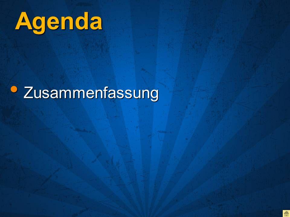 Agenda Zusammenfassung Zusammenfassung