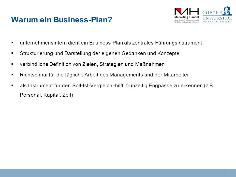 3 Warum ein Business-Plan.