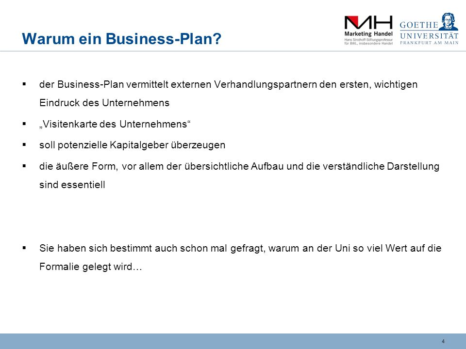 4 Warum ein Business-Plan.