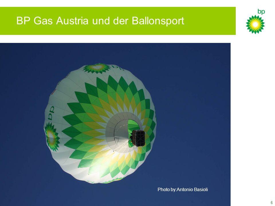 7 Sponsoring BP Gas Austria war seit Anbegin Sponsor und Mentor des Ballonsports in Österreich..