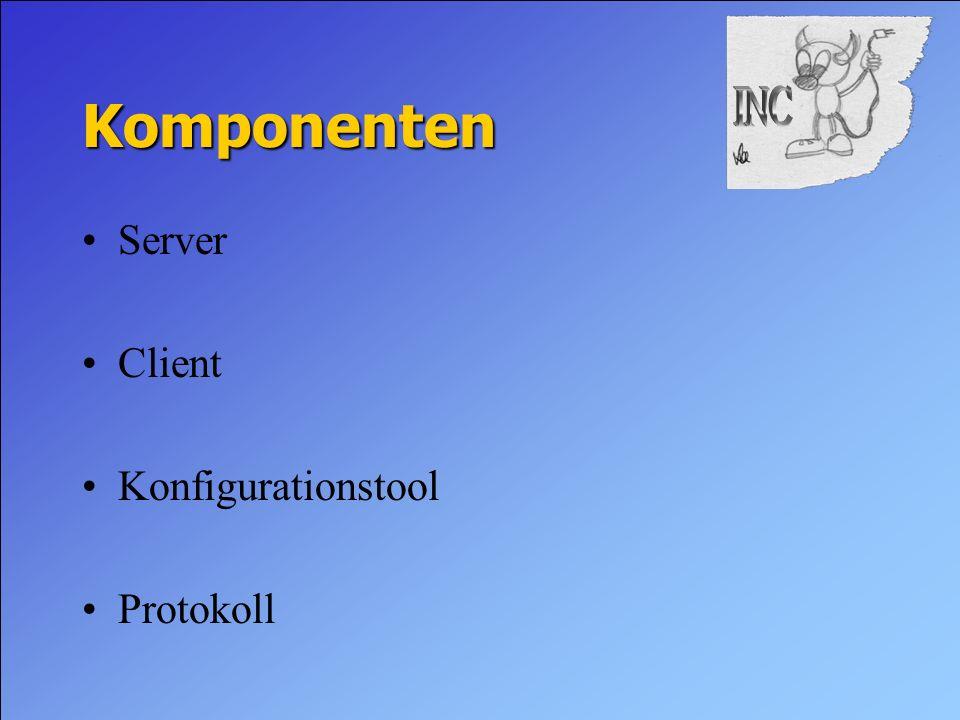 Komponenten Server Client Konfigurationstool Protokoll