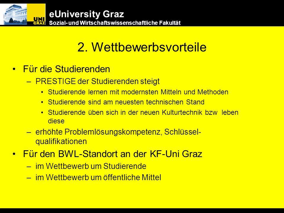 eUniversity Graz Sozial- und Wirtschaftswissenschaftliche Fakultät 1. (An)Forderungen der Wirtschaft Medienkompetenz Hohe Anpassungsfähigkeit und Flex