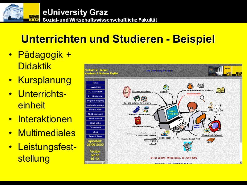 eUniversity Graz Sozial- und Wirtschaftswissenschaftliche Fakultät 5. Anreize für die Lehrenden Vorbildfunktion der Universitäten Raschere Reaktionsze