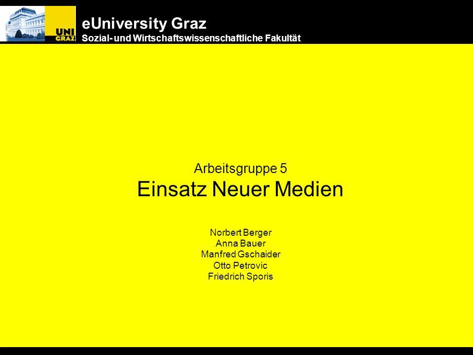 eUniversity Graz Sozial- und Wirtschaftswissenschaftliche Fakultät Vorschlag für die nächsten Schritte Synergetische Vernetzung von Glutnestern –KORE