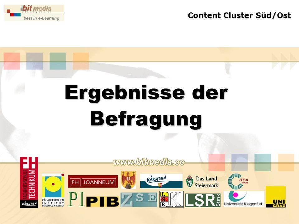 Ergebnisse der Befragung Content Cluster Süd/Ost