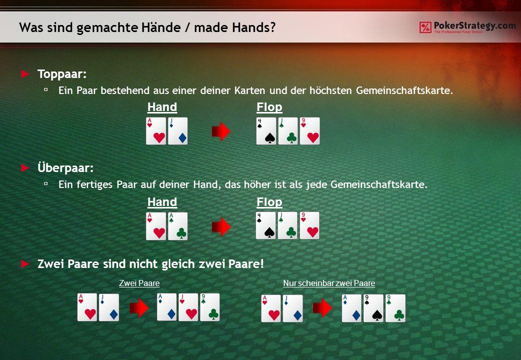 Open-Ended-Straight-Draw (OESD): Vier direkt aufeinander folgende Karten.