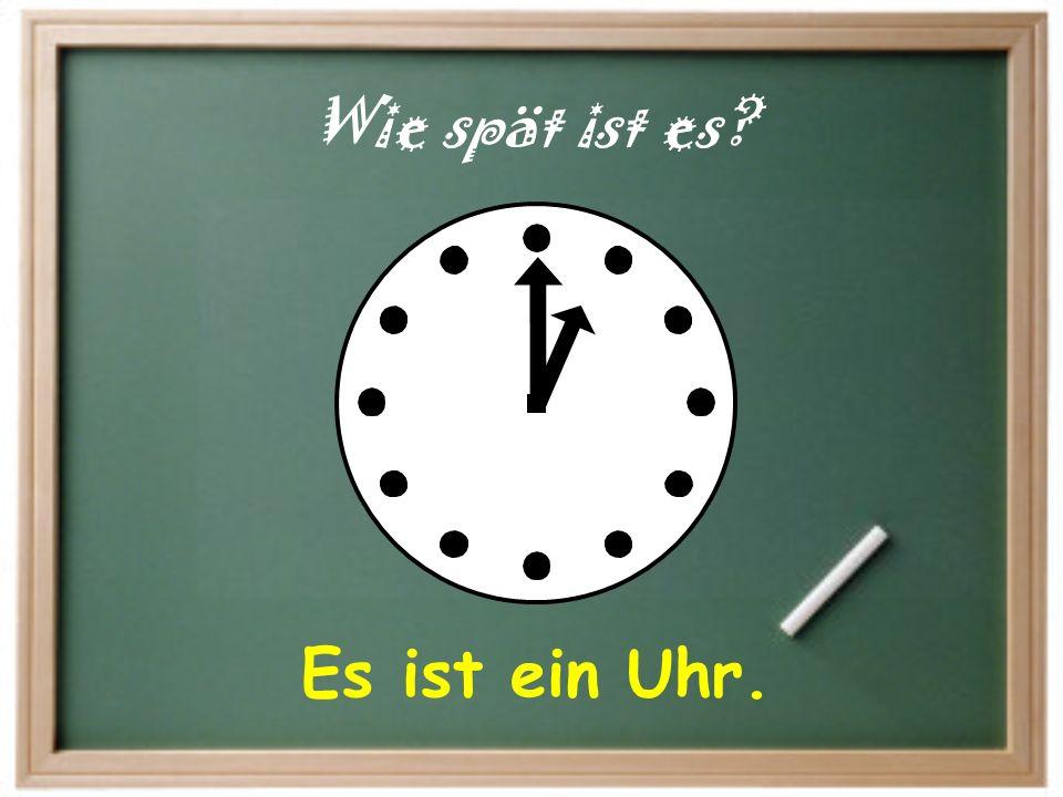 Es ist halb vier. Wie spät ist es?