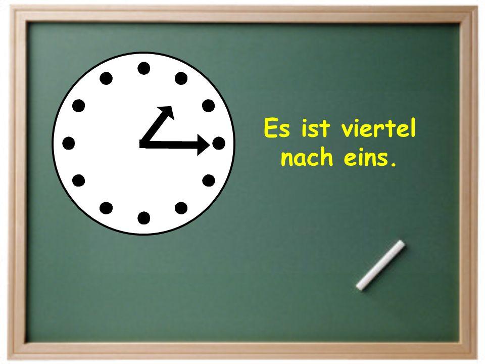 Es ist halb zwei.