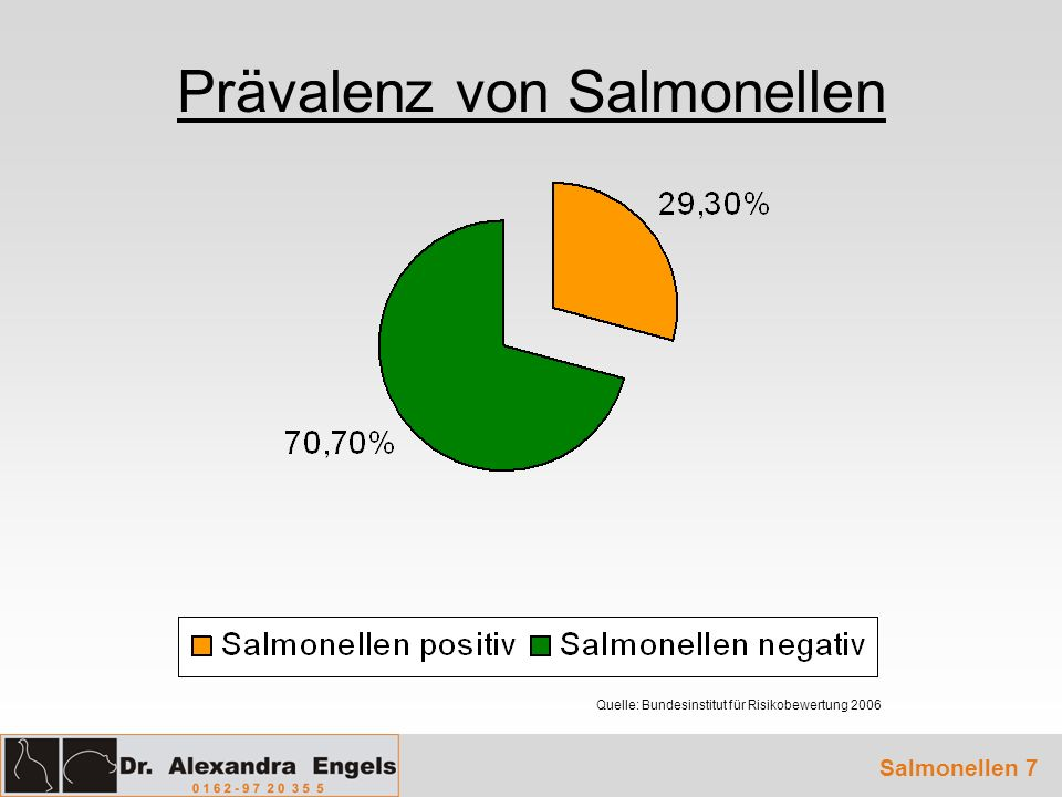 Prävalenz von Salmonellen Salmonellen 7 Quelle: Bundesinstitut für Risikobewertung 2006