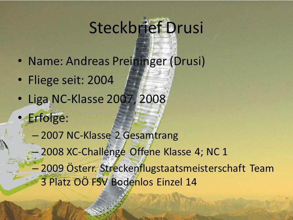 Steckbrief Stefan Name: Stefan Aufischer (Staufisch) Fliege seit: 2003 (Strecken seit 2006, Bewerbe seit 2007) NC-Klasse 2007/08, Serienklasse seit 2008 Erfolge: – 2009: 3.