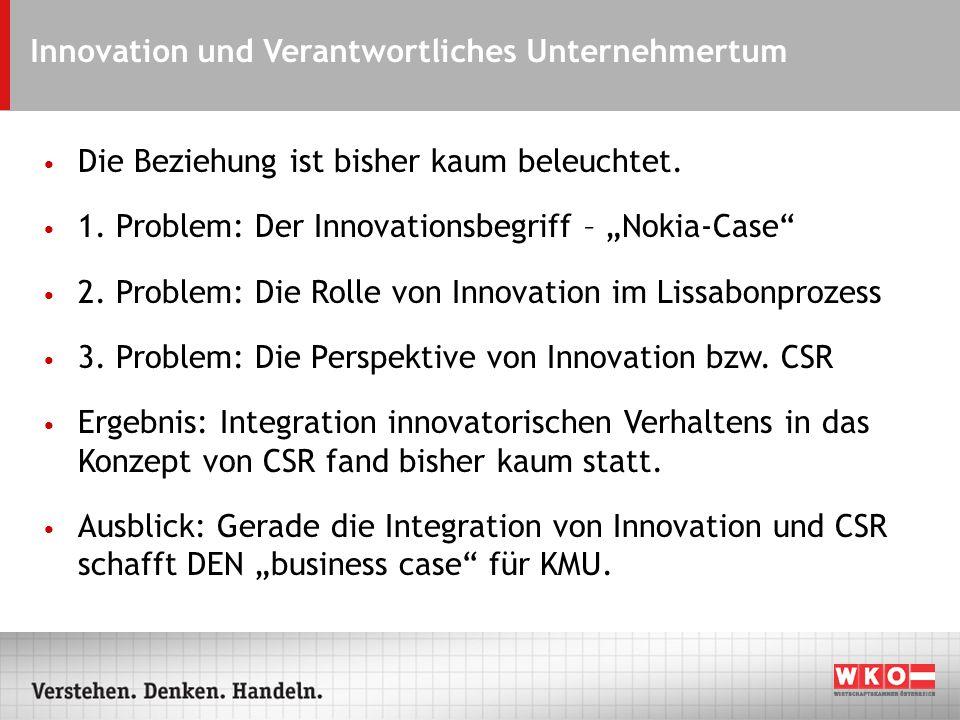 Innovation und Verantwortliches Unternehmertum Die Beziehung ist bisher kaum beleuchtet.